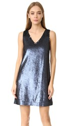 Rebecca Minkoff Claire Sequin Dress Navy Silver