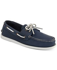 Tommy Hilfiger Perforated Bowman Boat Shoes Shoes Blue