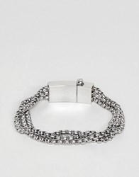 Vitaly Triad Bracelet In Stainless Steel Stainless Steel Silver