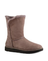 Ugg Classic Cuff Fur Suede Ankle Boots Grey