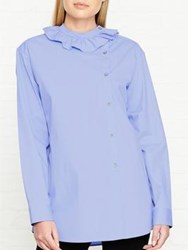 Paul Smith Ps By Pie Crust Cotton Shirt Blue