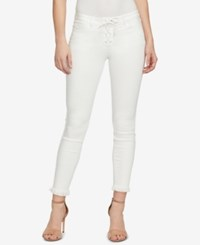 William Rast Lace Up Skinny Jeans Classic Blanca