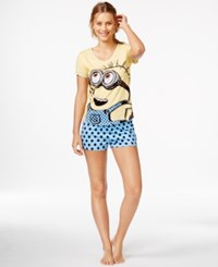 Briefly Stated Despicable Me Top And Boxer Shorts Set
