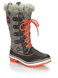 Sorel Tofino Quilted Faux Fur Trimmed Lace Up Boots Cordovan