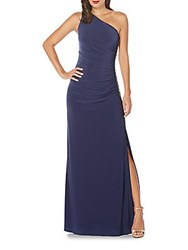 Laundry By Shelli Segal Beaded One Shoulder Gown Inkblot