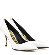 Versace Patent Leather Pumps White