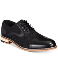 Bar Iii Frankie Perforated Oxfords Created For Macy's Shoes Black