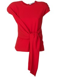 Chalayan Tie Front Blouse Red