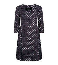 Claudie Pierlot Romaine Polka Dot Dress Female Navy