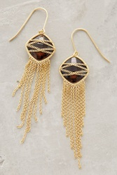Anthropologie Celaeno Fringed Drops Smoky Topaz