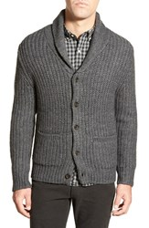 Men's Bonobos Shawl Collar Button Front Cardigan Heather Charcoal