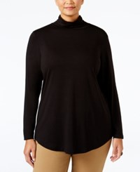 Jm Collection Plus Size Turtleneck Top Only At Macy's Deep Black
