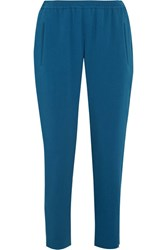Stella Mccartney Tamara Stretch Crepe Track Pants Azure