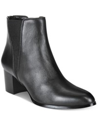 Alfani Women's Vitaa Ankle Booties Only At Macy's Women's Shoes Black Leather