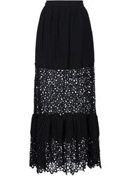 Sea Broderie Anglaise Panel Skirt Black