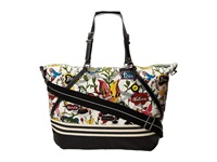 Sakroots Artist Circle Soft Duffle White Peace Duffel Bags Multi