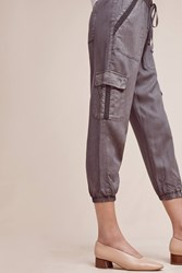 Anthropologie Trimmed Cargo Joggers Light Grey