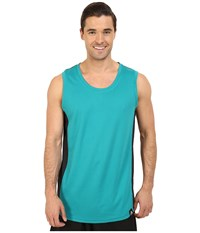 Adidas Standard One Blocked Tank Top Eqt Green Black Men's Sleeveless Gray
