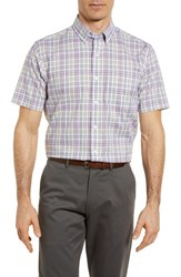 Cutter And Buck Big Tall Isaac Classic Fit Easy Care Check Sport Shirt Magnetic