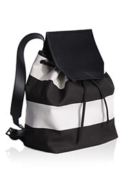 Kendall And Kylie Nancy Canvas Backpack White Black Black