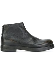 Marsell Back Zip Boots Black
