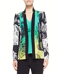 Etro Paisley Print Jacket Green Black
