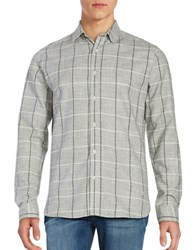 Selected Woaxel Flannel Shirt Light Grey