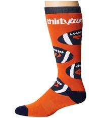 Thirtytwo Game Day Sock Orange Men's Crew Cut Socks Shoes