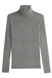 Joseph Merino Wool Turtleneck Pullover Grey