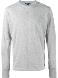 Y 3 Cotton Long Sleeved Logo T Shirt Grey