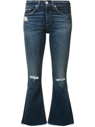 Rag And Bone Jean 'Vale' Cropped Flares Blue