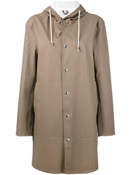 Stutterheim 'Goteborg' Coat Women Cotton Polyester Pvc Xs Grey