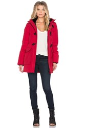 Penfield Kelsey Long Down Insulated Duffle Jacket Red