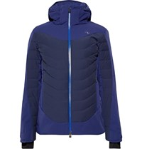 Kjus Sight Line Quilted Down Ski Jacket Blue