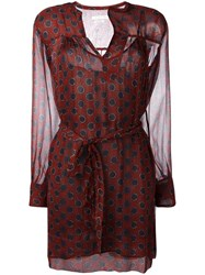 Etoile Isabel Marant Printed Wrap Dress Red