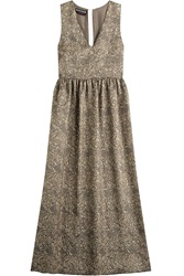 Rochas Jacquard Dress With Silk Gold