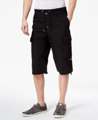 Guess Men's Boyd Cargo Shorts Jet Black Washed