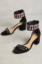 Anthropologie Schutz Naharis Beaded Heels Black