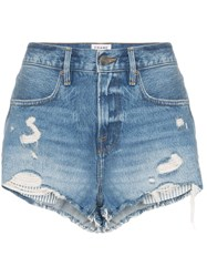 Frame Le Stevie Shorts Blue