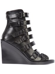 Ann Demeulemeester Buckle Strap Boots Women Calf Leather Leather 36 Black