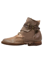 A.S.98 Enigma Laceup Boots Beige