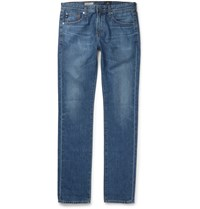 Ag Jeans Matchbox Slim Fit Rinsed Denim Jeans Blue