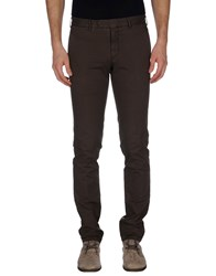 Santaniello And B. Trousers Casual Trousers Men Dark Brown