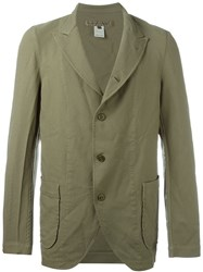 Comme Des Gara Ons Shirt Three Button Blazer Green