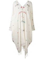 Mes Demoiselles Embroidered Richard Kaftan Women Cotton One Size Nude Neutrals