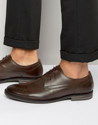 Base London Bayham Leather Derby Shoes Brown