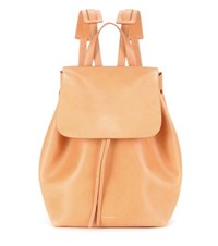 Mansur Gavriel Leather Backpack Brown