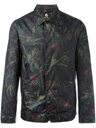 Paul Smith Ps By Leaves Print Lightweight Jacket Men Polyester M Green