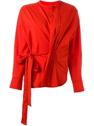 Isabel Marant 'Dorcey' Wrap Top Red