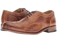 Bed Stu Corsico Tan Candiru Rustic Lace Up Wing Tip Shoes Brown
